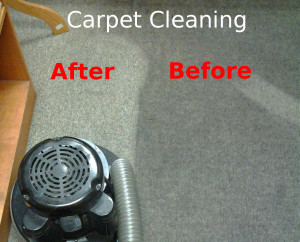 carpet cleaned - before and after